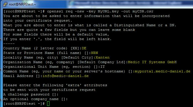 Centos Ssl Zertifikate Aus Eine Microsoft Ca Anfordern Und Im Apache